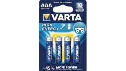 ΜΠΑΤΑΡΙΑ ΑΛΚΑΛΙΚΗ AAA 4903 VARTA HIGH ENERGY (4 τεμάχια)